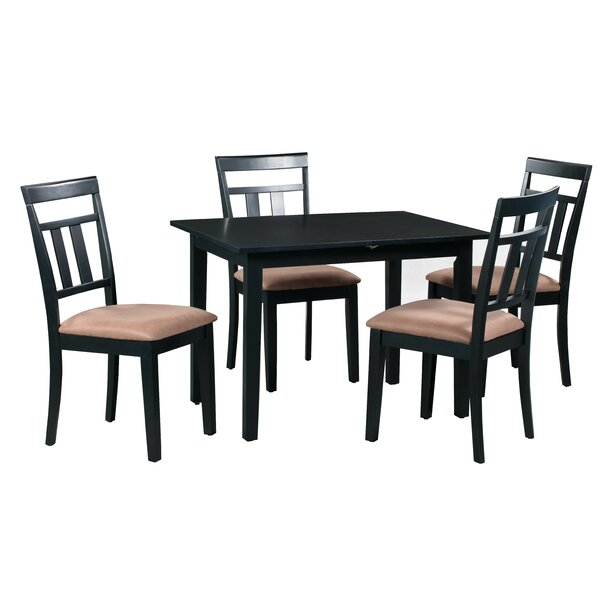 Fontinella 5 Piece Extendable Solid Wood Dining Set by Alcott Hill