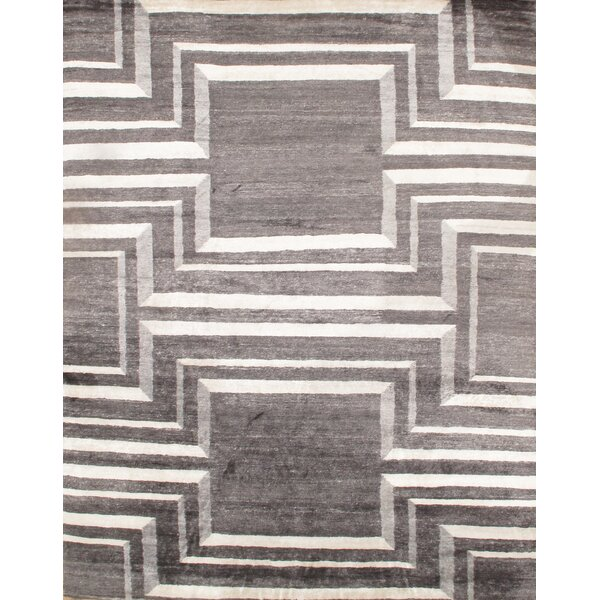 Hand - Knotted Gray Area Rug by Pasargad NY