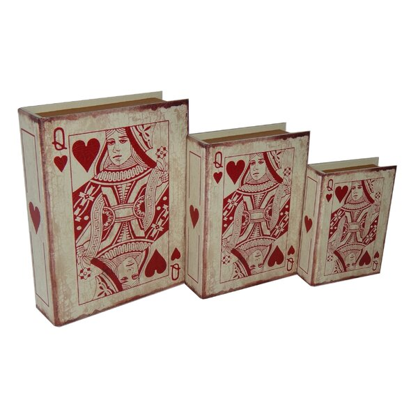 3 Piece Vinyl Queen of Hearts Book Box Set by Cheungs