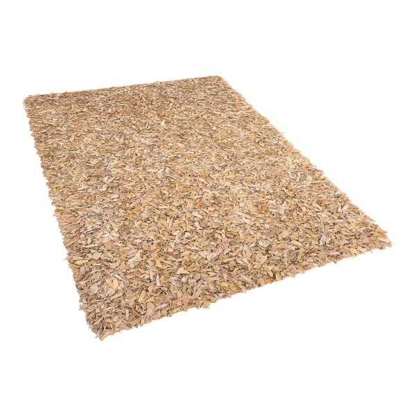 Calanthe Shaggy Hand-Woven Beige Area Rug by 17 Stories