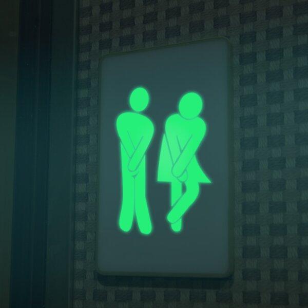 Toilet Glowing Wall Decal by Walplus