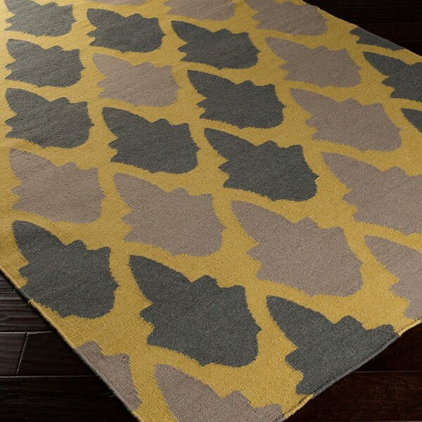 Donley Brown/Tan Geometric Area Rug by Wrought Studio