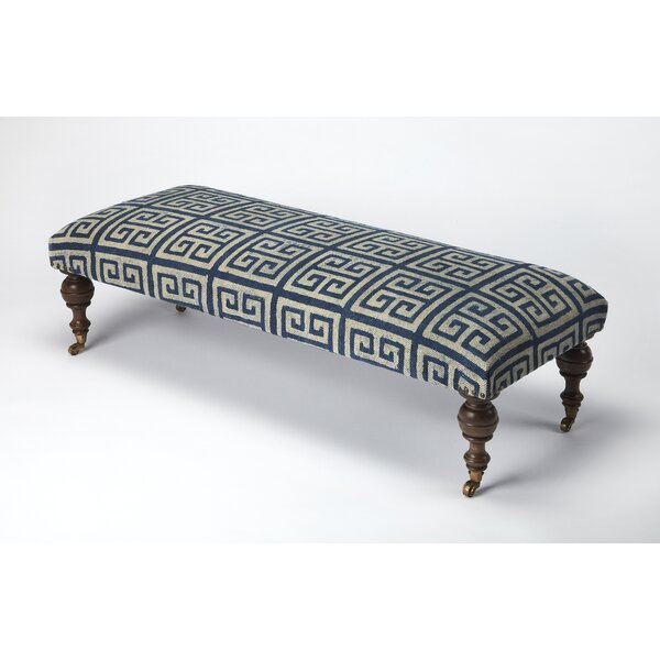 Sangani Greek Key Upholstered Bench by Longshore Tides