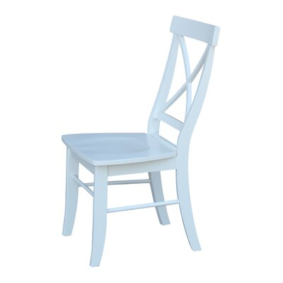 Peachy August Grove Sawyer Solid Wood Dining Chair Color Bright White Creativecarmelina Interior Chair Design Creativecarmelinacom
