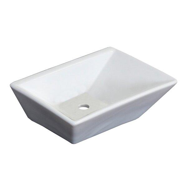 Emily Ceramic Rectangular Vessel Bathroom Sink by Royal Purple Bath Kitchen