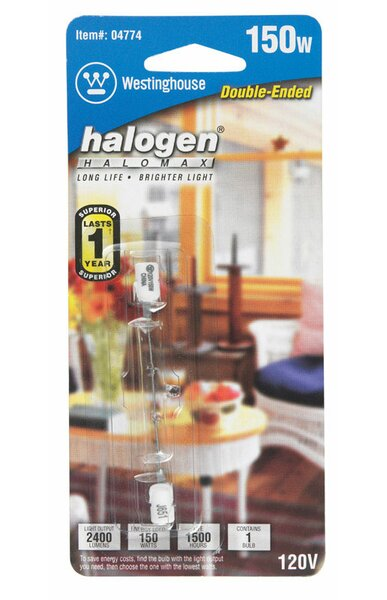150W RSC Dimmable Halogen Edison Tube Light Bulb by Westinghouse Lighting