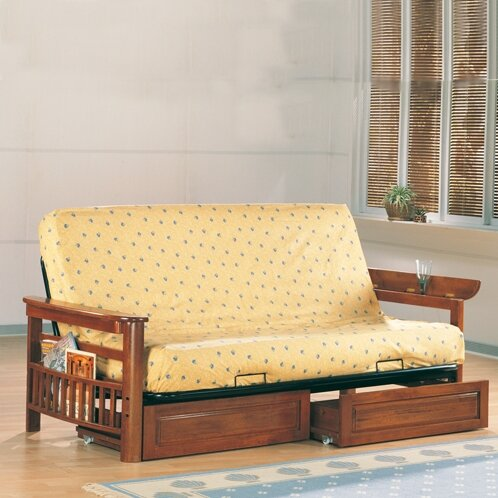 Cottage Grove Futon Frame with Flip Up Arms and Magazine Rack by Wildon Home ®