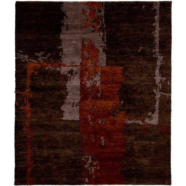 One-of-a-Kind Wimmer Hand-Knotted Tibetan Brown 6' Square Wool Area Rug