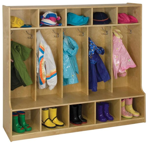 5 Section Coat and Dress Locker by Offex