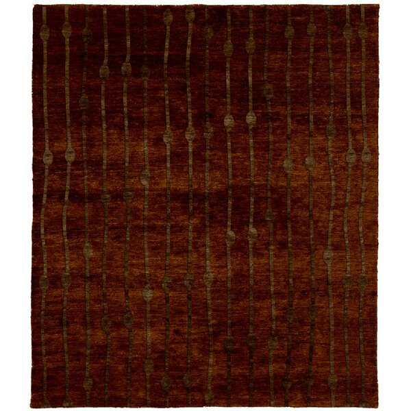 One-of-a-Kind Rolande Hand-Knotted Traditional Style Brown 12' x 18' Wool Area Rug