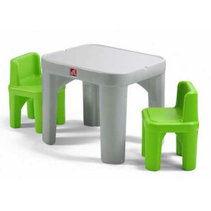Mighty My Size Kids 3 piece Table u0026 Chairs Set  sc 1 st  Wayfair & Plastic Kidsu0027 Table u0026 Chair Sets Youu0027ll Love | Wayfair islam-shia.org