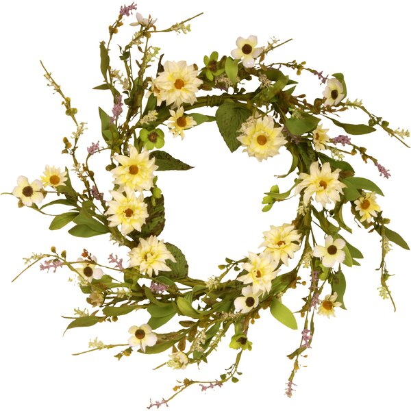 Floral 20 Wreath with Daisy by August Grove