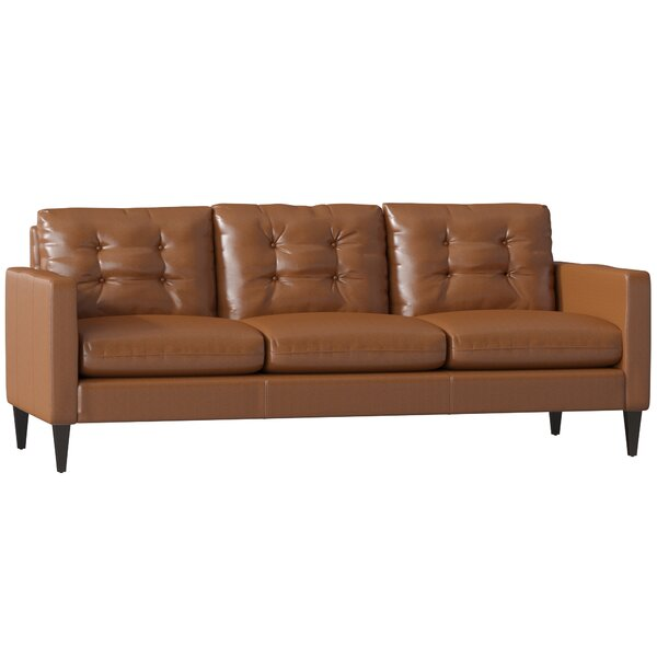 Awesome Paugh Leather Sofa by Brayden Studio by Brayden Studio