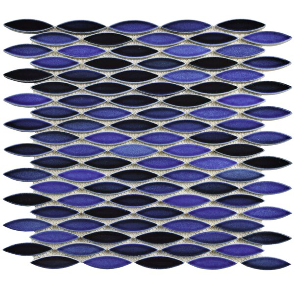 Paissan 0.69 x 2.44 Ceramic Mosaic Tile in Glossy Azul by EliteTile