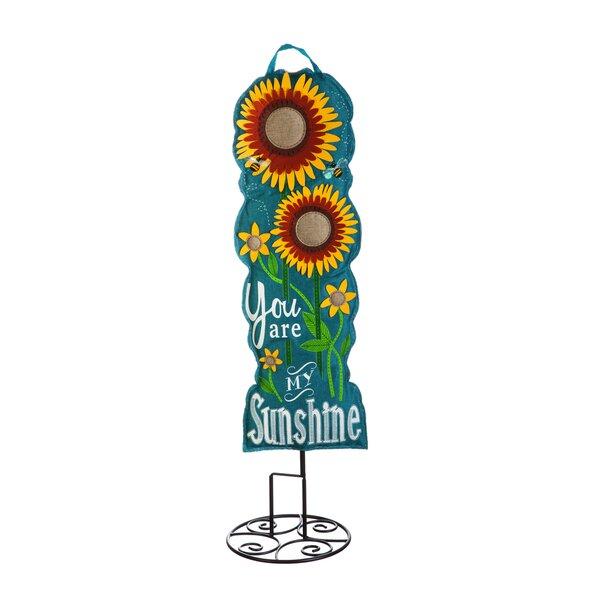 Limones Sunflower Welcome 36 Garden Stake by Red Barrel Studio