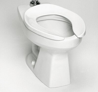 High Efficiency Commercial Floor Mounted Flushometer 1.28 GPF Elongated Toilet Bowl by Toto