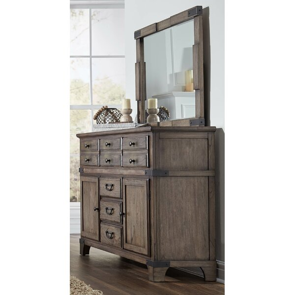 Britteny 6 Drawer Combo Dresser with Mirror by Gracie Oaks