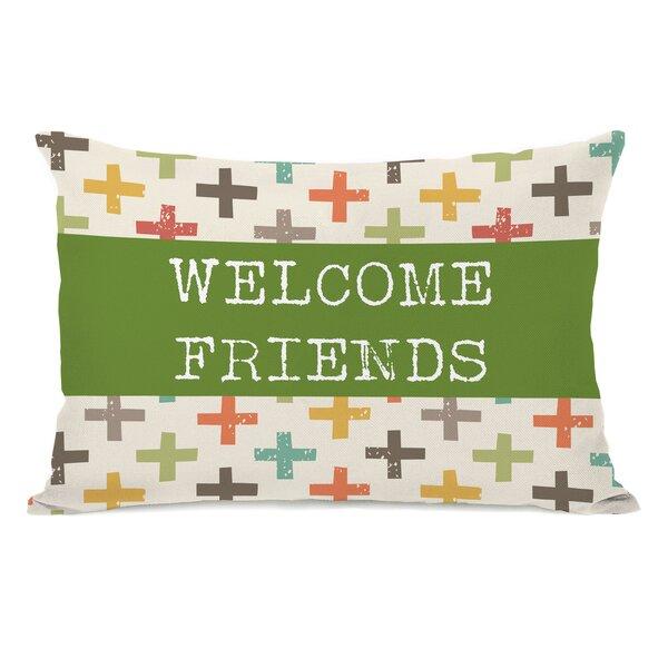 Welcome Friends Lumbar Pillow by One Bella Casa