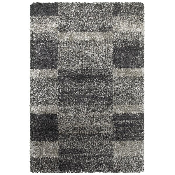 Leonard Gray/Charcoal Area Rug by Wade Logan