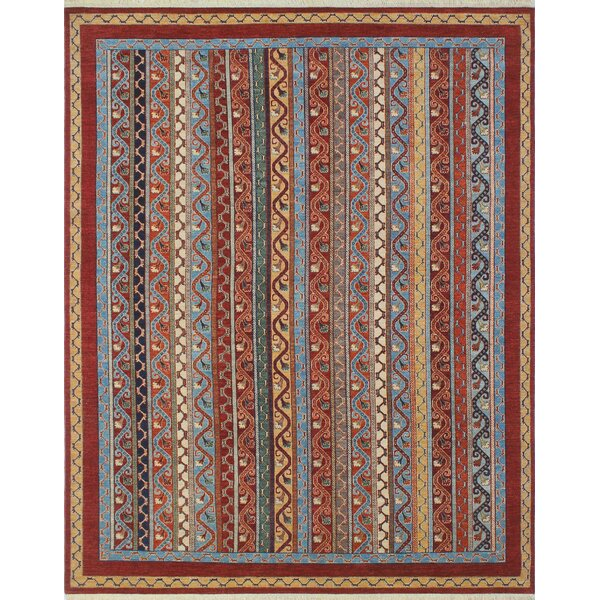 One-of-a-Kind Trevor Homayoon Hand-Knotted Wool Rust Area Rug by Bloomsbury Market