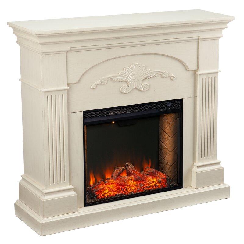 Ebern Designs Sicilian Alexa Enabled Fireplace