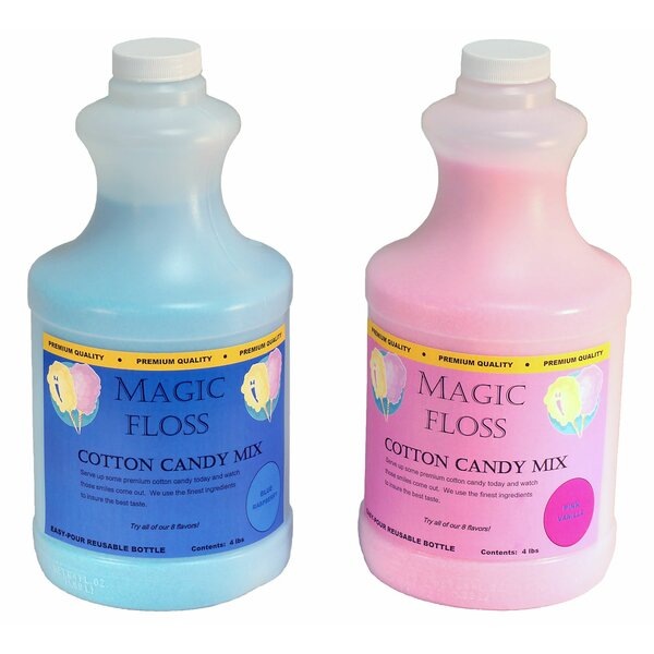 4 lbs Magic Floss Sugar in Easy Pour Bottle (Set of 6) by Paragon International