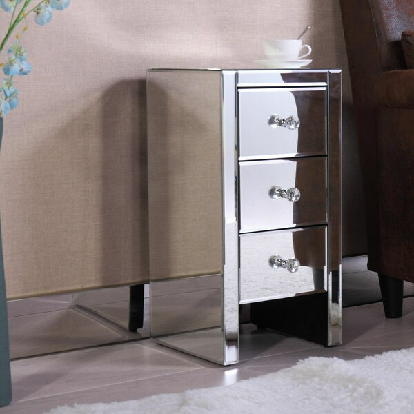 Quon 3 Drawer Nightstand by House of Hampton