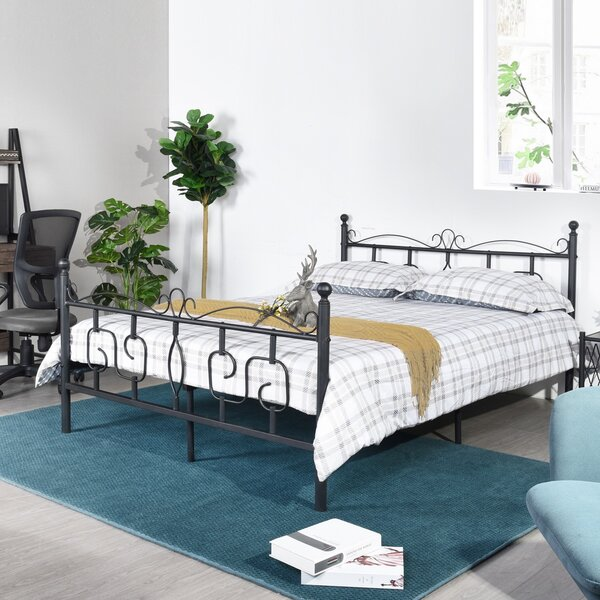 Nydia Elegant Queen Platform Bed by Fleur De Lis Living