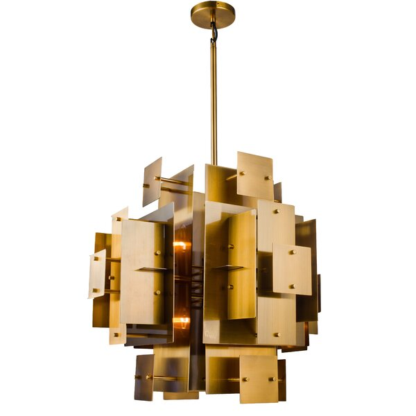 Rivas 8-Light Shaded Geometric Chandelier By Everly Quinn