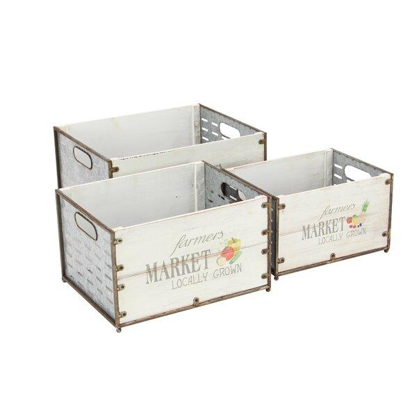 Market Crate 3-Piece/Planter Box Set by Cole & Grey