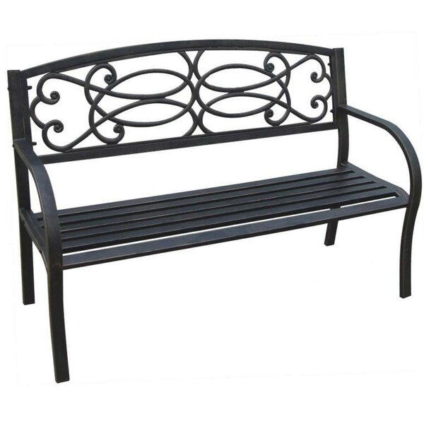 Straker Metal Garden Bench by Charlton Home