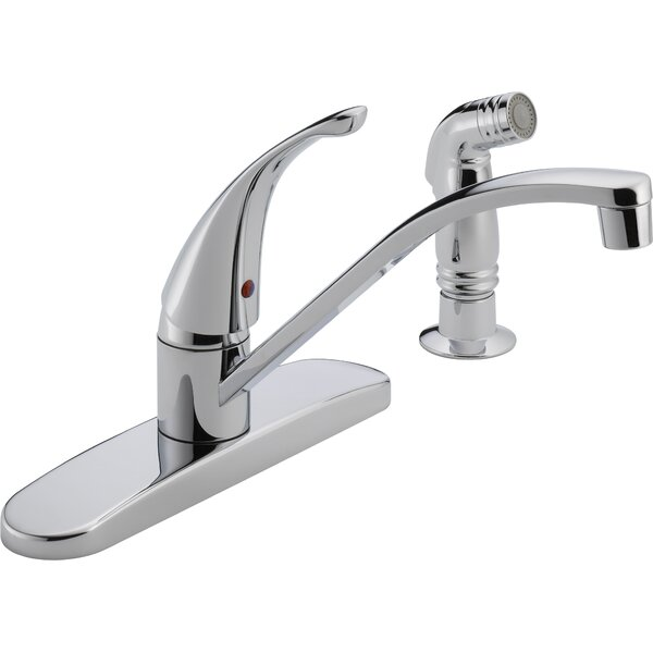 Single Handle Centerset Kitchen Faucet with Side Spray by Peerless Faucets