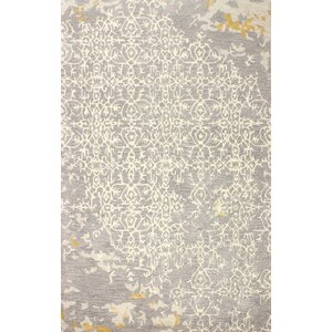 Flori Hand-Tufted Gray Area Rug