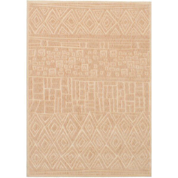Ostby Beige Area Rug by Bungalow Rose