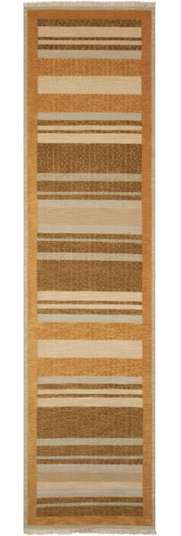Field Hand Woven Wool Crackle Stripe Fern Area Rug by Calvin Klein