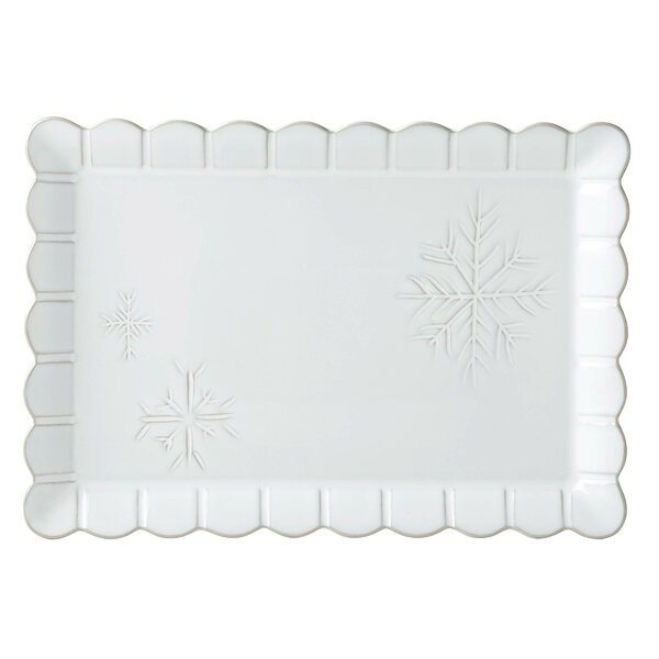 Alpine Carved Rectangular Platter by Lenox
