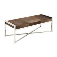 Metal and Leather Bedroom Bench by Cole & Grey
