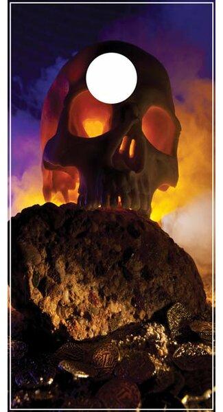 Skull Island Cornhole Board by Lightning Cornhole