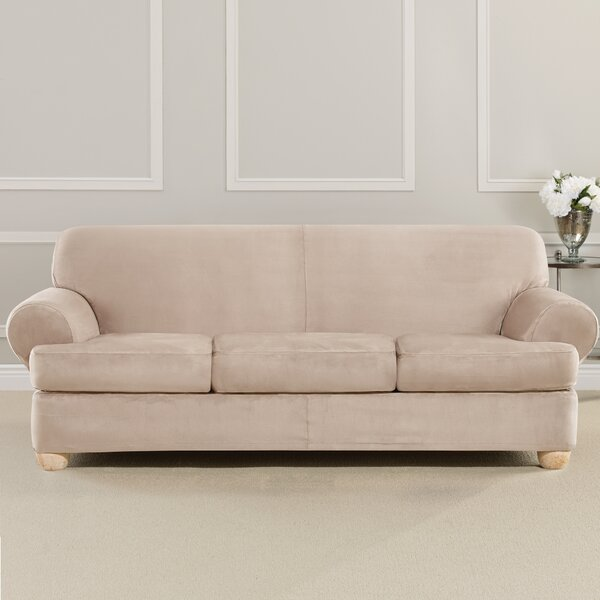 Ultimate Heavyweight Stretch Suede T-Cushion Sofa Slipcover By Sure Fit Sure Fit