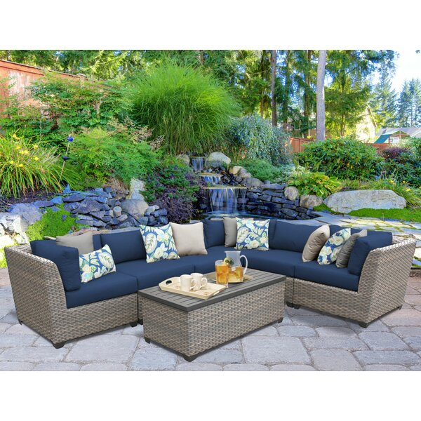 Merlyn 7 Piece Sectional Seating Group with Cushions by Sol 72 Outdoor