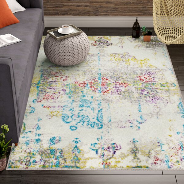 Brees Medallion Ivory Area Rug by Bungalow Rose