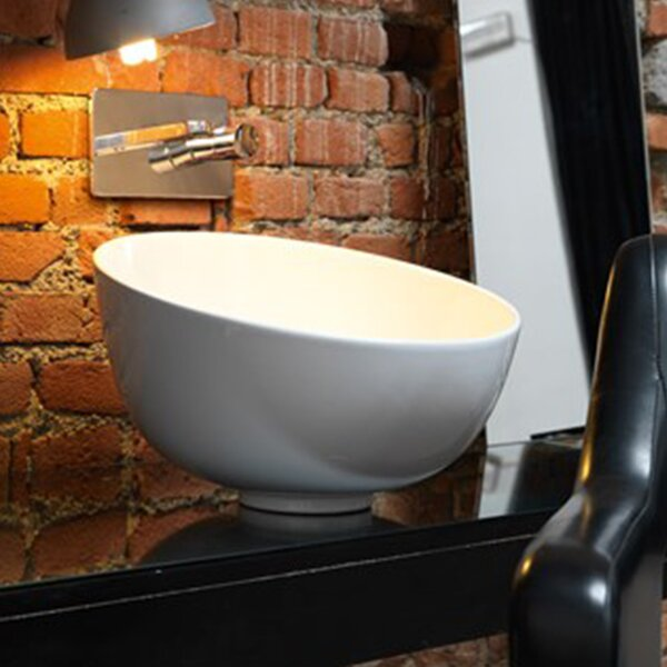 Ciotola Ceramic Circular Vessel Bathroom Sink by WS Bath Collections
