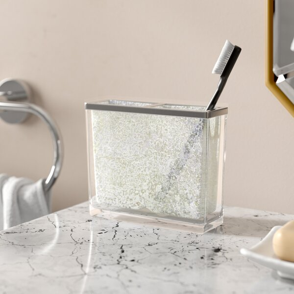 Westley Mercury Fusion Glass Toothbrush Holder by Willa Arlo Interiors