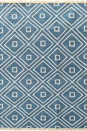 Mali Hand-Woven Blue Indoor/Outdoor Area Rug by Dash and Albert Rugs