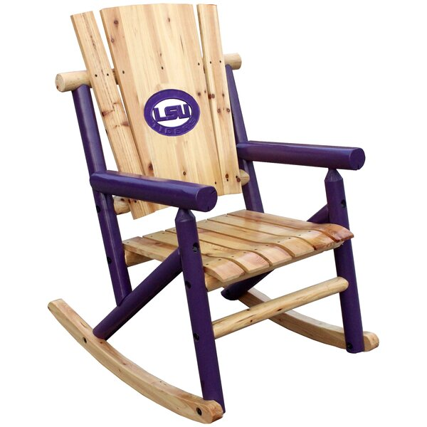 NCAA Collegiate Rocking Chair by Leigh Country