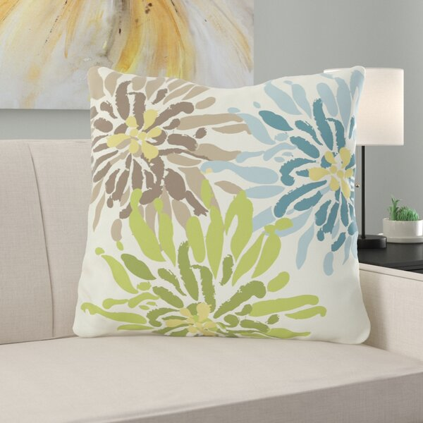 Vickey Floral Throw Pillow by Zipcode Design