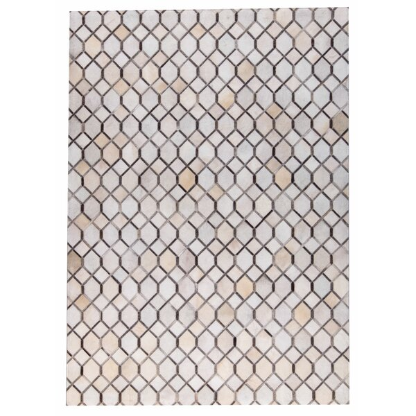 Hydra Hand Woven White/Gray Area Rug by M.A. Trading