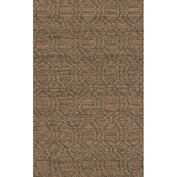 Limewood Ivory/Chocolate Area Rug by Darby Home Co