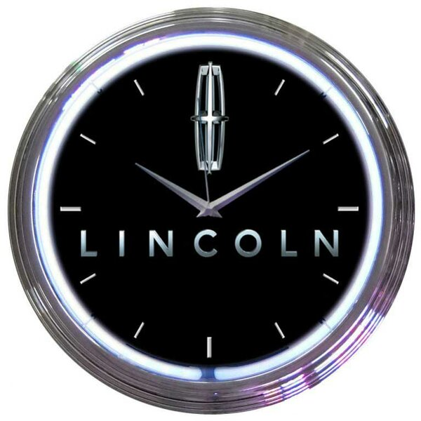 15 Ford Lincoln Wall Clock by Neonetics
