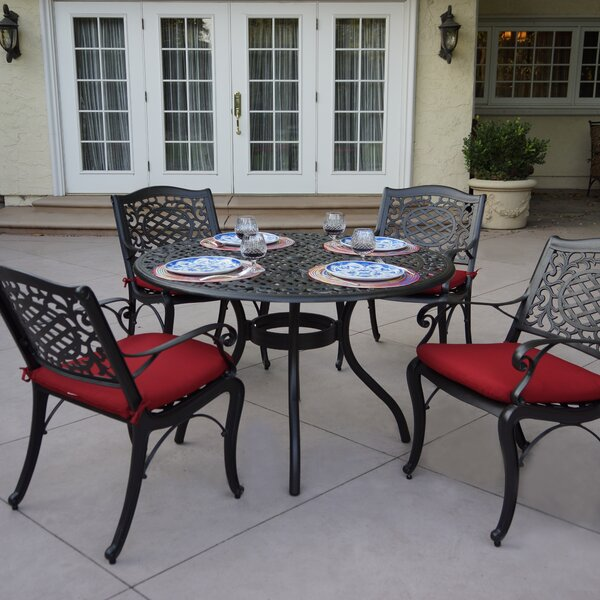 Appleby 5 Piece Dining Set with Cushions by Astoria Grand